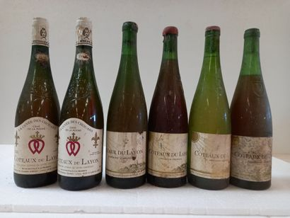 6 bouteilles Côteau du Layon comprenant :...