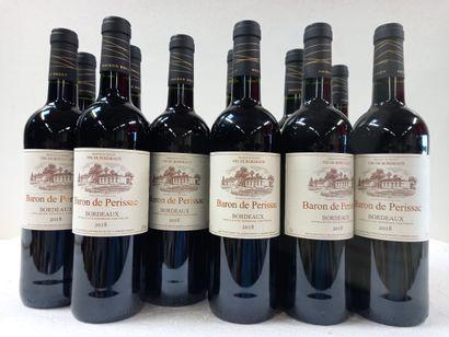 12 Btls Bordeaux le Baron de Perissac 2018....