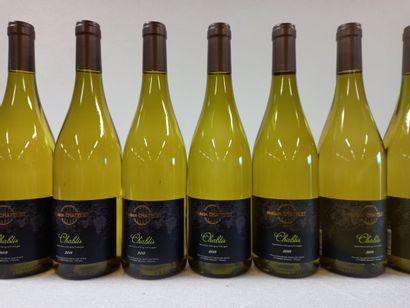 8 Btls Chablis Bourgogne M. Chatelet 201...