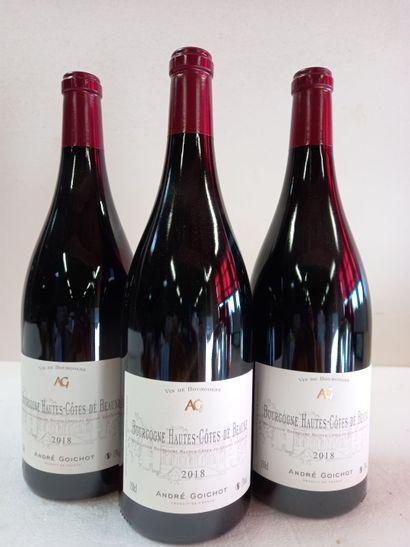 3 Magnums (150cl) Bourgogne Hautes Côtes...