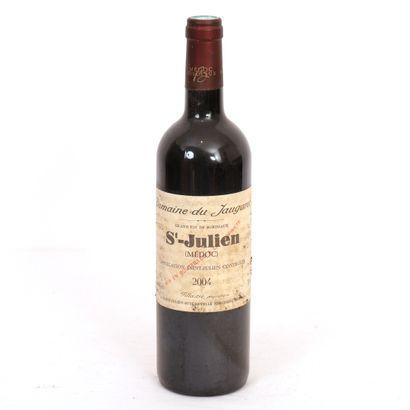 1 Btl St Julien Domaine du Jaugaret 2004  Bon niveau, étiquette abimée.