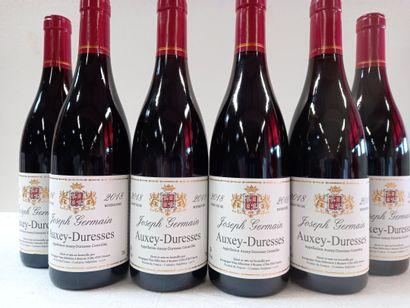 6 Btls Auxey Duresse Bourgogne. Récolte 2018....