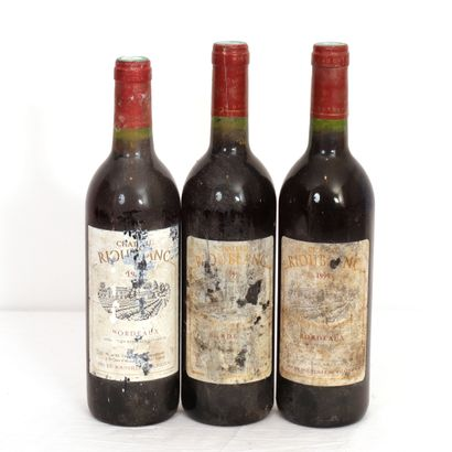 3 Btls Bordeaux, Château Rioublanc, Grand...
