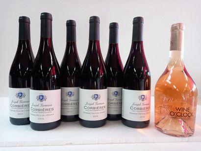 7 bouteilles comprenant :  6 Domaine Pech...