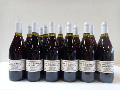 12 Btls Vins de l'Hérault .Rouge. S/M Charles...
