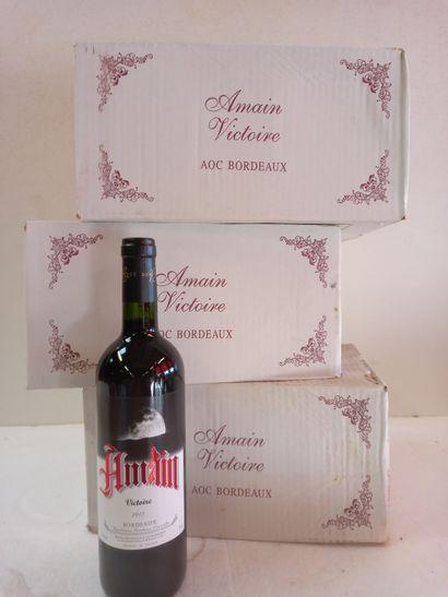 18 Btls Bordeaux Rouge .2012. Mise de propriété...