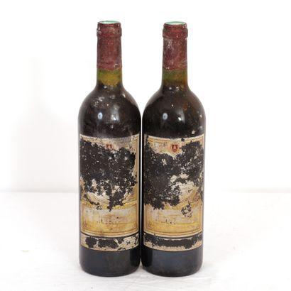 2 Btls Bordeaux, grand vin de Bordeaux, étiquettes...