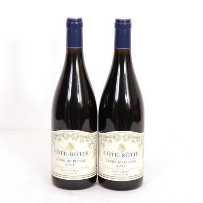 2 Btls Côte-Rôtie Cuvée du Plessis 2011  Bons...