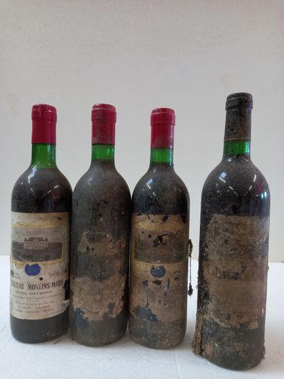 4 bouteilles comprenant :  1 Château d'Arcins...