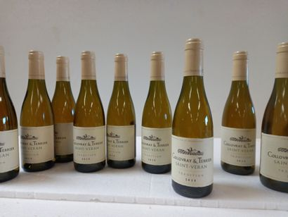 12 Btls Saint Véran Bourgogne Blanc Le Collovray...