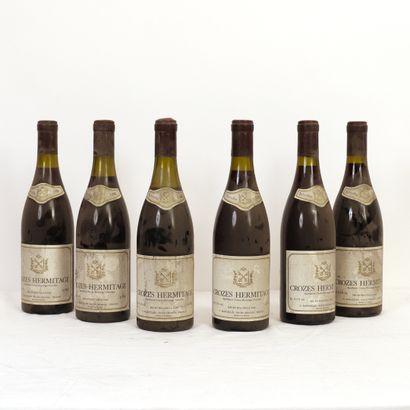 6 bouteilles Crozes Hermitage O. Marcelin...