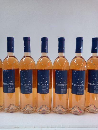 12 Btls Bordeaux Rosé Sec Le Borderelle Bouteilles...