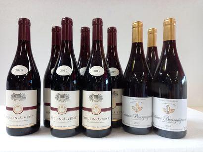 9 bouteilles comprenant :  3 Bourgogne Côteaux...