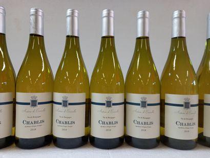 9 Btls Chablis Bourgogne Antoine de Courcelle...