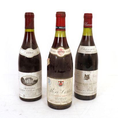 3 Btls de vins de Bourgogne :  - 1 Aloxe-Corton...