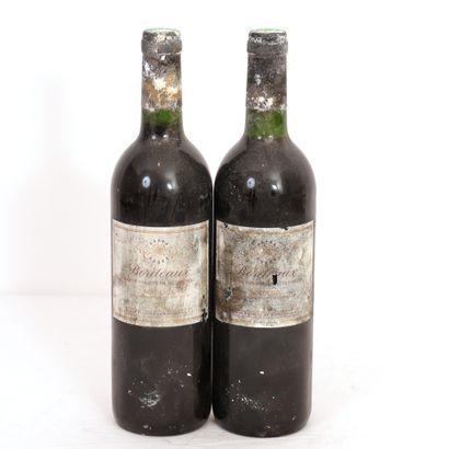 2 Btls Bordeaux Baron Philippe de Rothschild,...