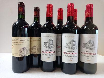 8 bouteilles comprenant :  6 Saint Emilion...
