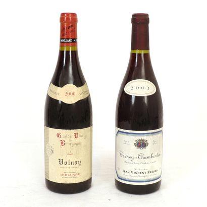 2 Btls de vins de Bourgogne :  - 1 Gevrey-Chambertin...