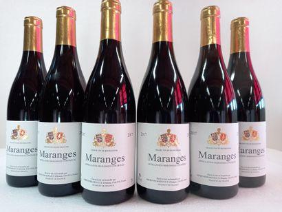6 Btls Bourgogne Rouge Maranges Adrien Pierarnault...