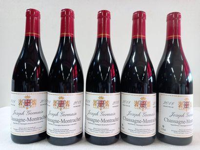 5 Btls Chassagne Montrachet Rouge Bourgogne....