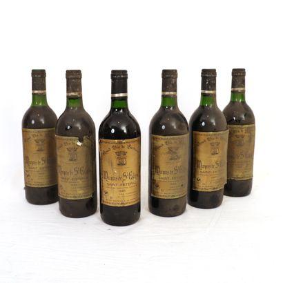 6 bouteilles Saint Estèphe