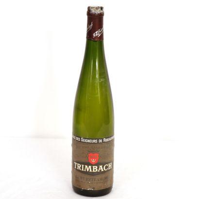 1 Btl Gewurztraminer, Trimbach, la Cuvée des seigneurs de Ribeaupierre 1990  Bon...