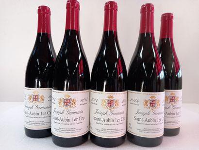 5 Btls Bourgogne Saint Aubin 1er cru 2014....