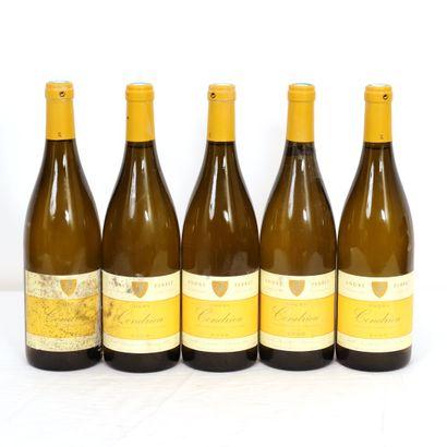 5 Btls Rhône, Condrieu Chery 2008  Haut goulot,...