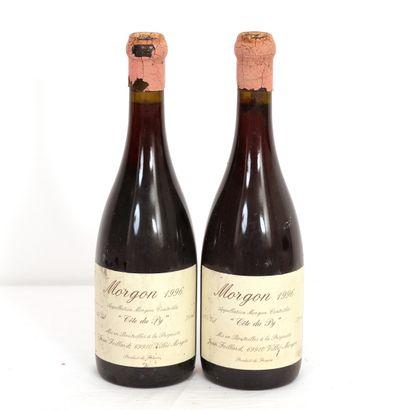 2 Btls Morgon, Côtes du Py 1996  BG, étiquettes...