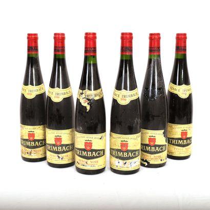 6 Btls Alsace, Pinot Noir Trimbach, 1990...