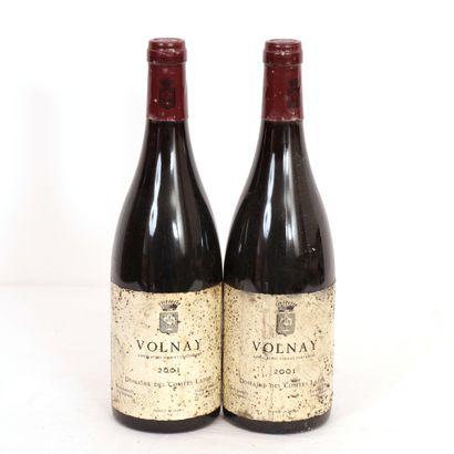 2 Btls Volnay Domaine des comtes Lafon 2001...