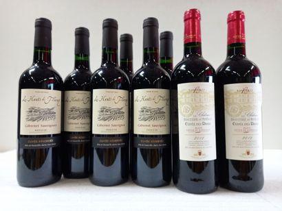 8 bouteilles comprenant :  2 Château la Braulterie...