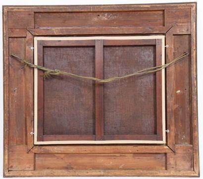TABLEAU DE GUSTAVE COURBET  Huile sur toile marine représentant une maison de bord...