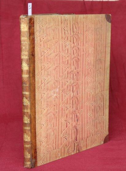 ATLAS du VOYAGE de LA PEROUSE.  Recueil in-folio...