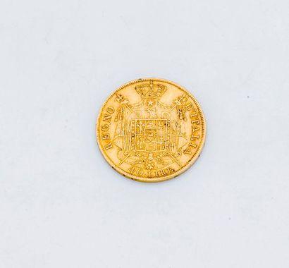 1 pièce de 40 lires Italiennes or Napoléon...