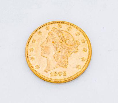 1 Pièce de 20 dollars or Liberty head 1892...