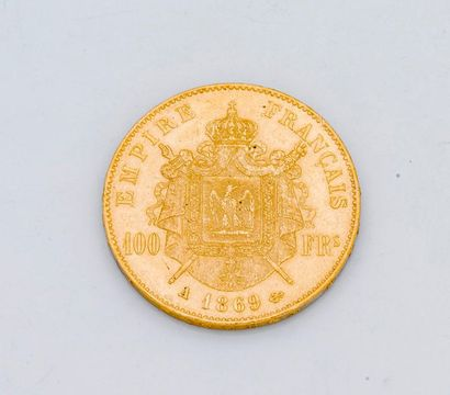 1 pièce de 100 francs or Napoléon III lauré...