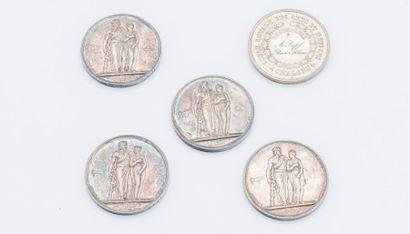 Lot de médailles comprenant :  - Second Empire...