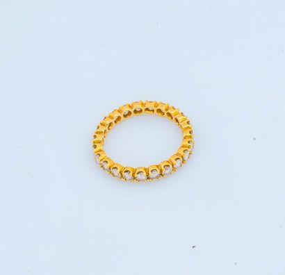 Alliance américaine en or jaune 18 carats...