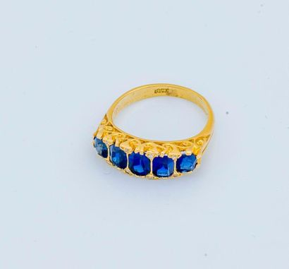 Bague jarretière en or jaune 18 carats (750...