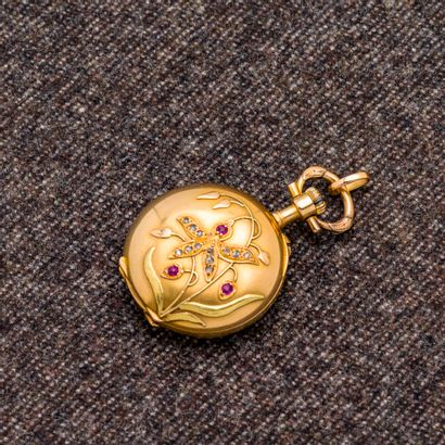 Montre de col en or jaune 18 carats (750...