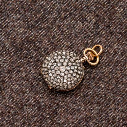 Montre de col en rose 18 carats (750 milli!èmes)....