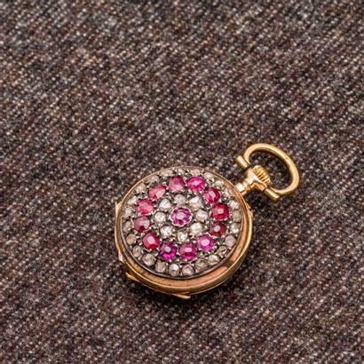 Montre de col en rose 18 carats (750 millièmes),...