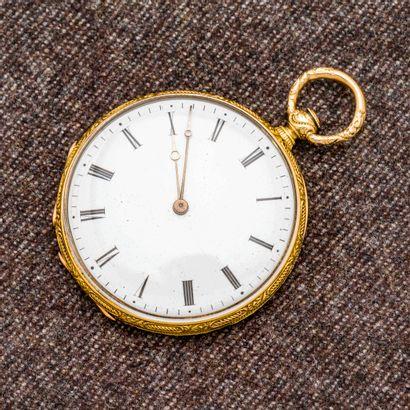 Montre de poche en or jaune 18 carats (750...