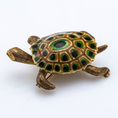Broche tortue en or jaune 18 carats (750...
