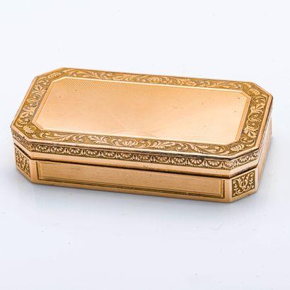 Boite en or jaune 18 carats (750 millièmes)...