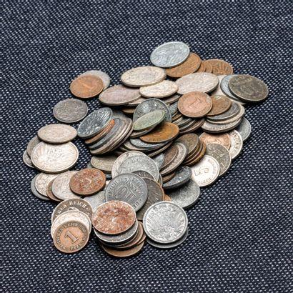 Lot de 10 pièces de 10 Pfenning et 11 pièces...