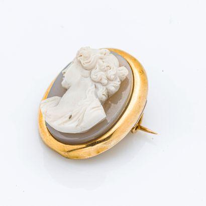 Broche en or jaune 18 carats (750 millièmes) et or jaune 14 carats (585 millièmes)...