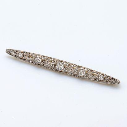 Broche barrette en or jaune 14 carats (750...