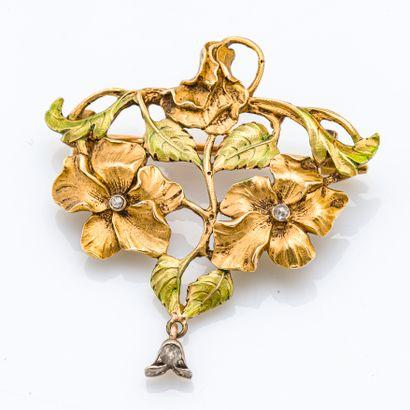Borche-pendentif en or jaune 18 carats (750...